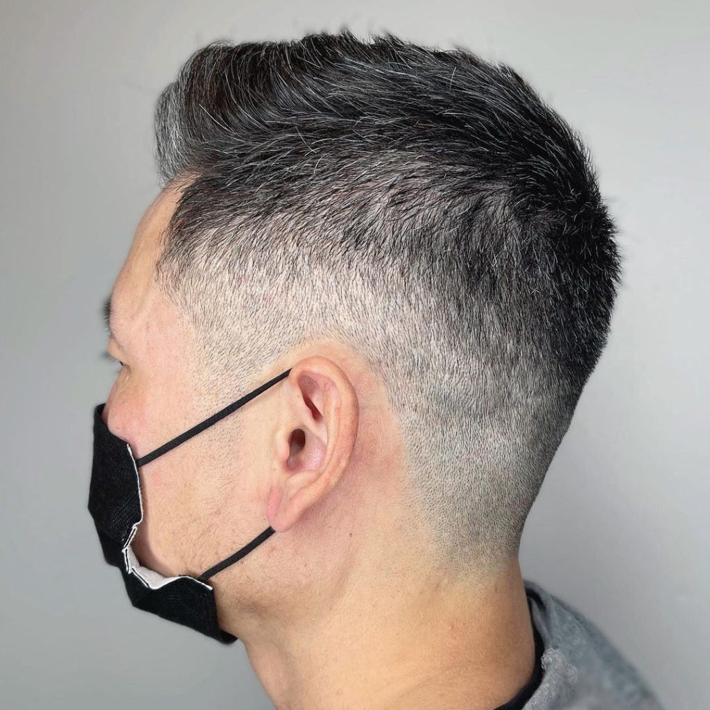 Taper fade haircut for older men