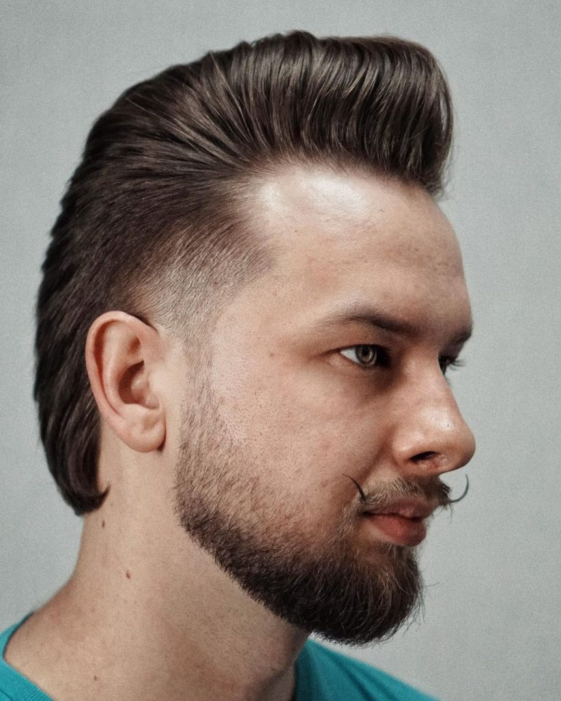 Pompadour with mullet