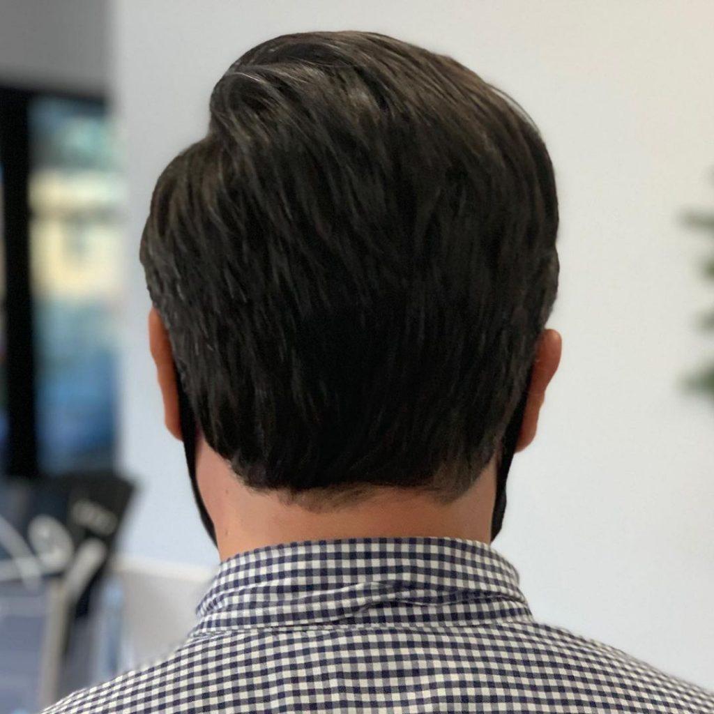 professional haircut for older men