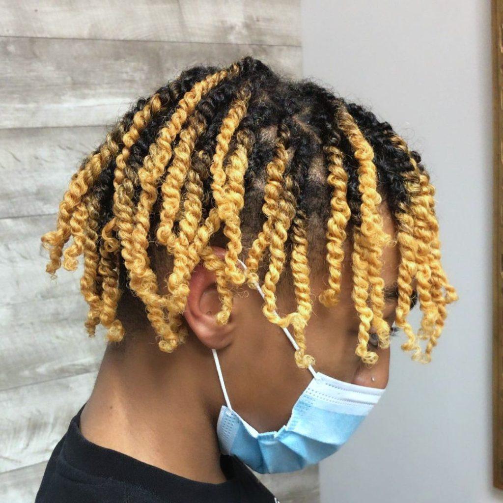 Black men hair twist