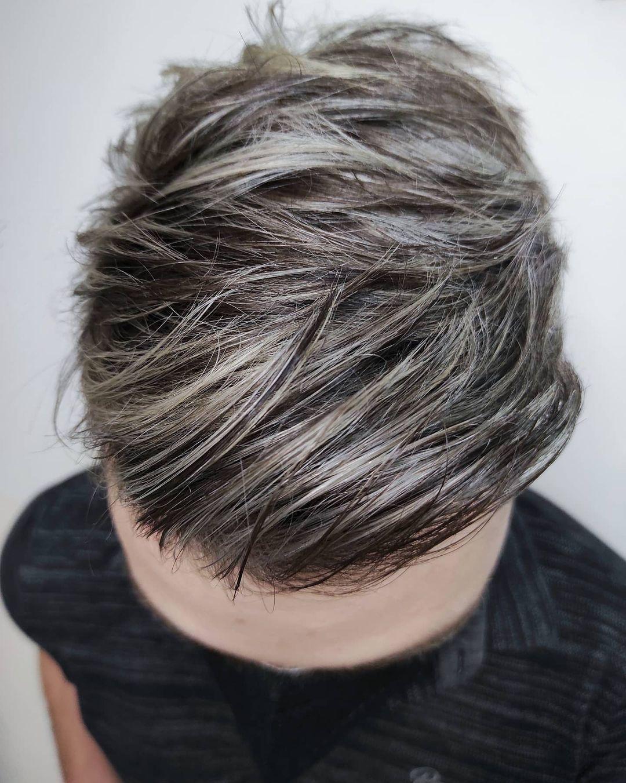 Ash blonde highlights for black hair