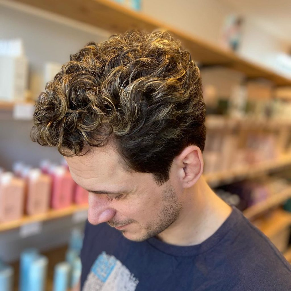 Highlights for Curly Hair Men