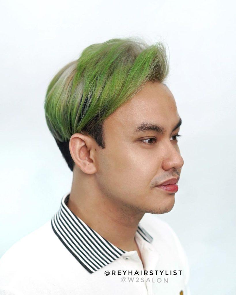 Green Hair Color For Men