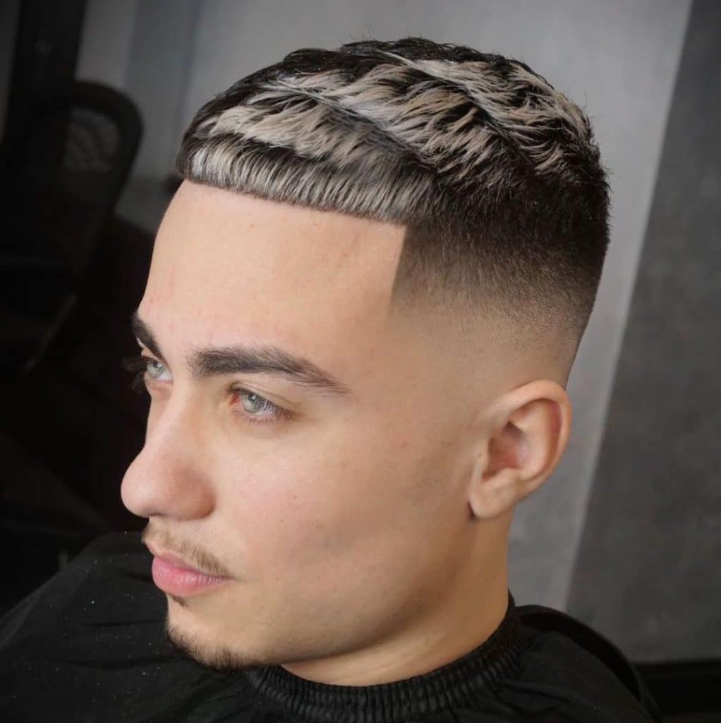 Blonde highlights for men with black hair