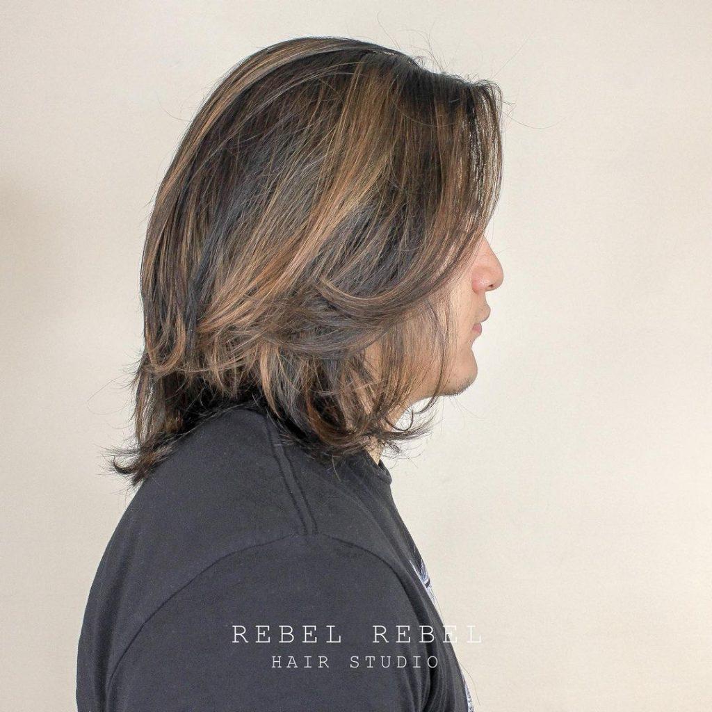 Men's Highlights For Long Hair