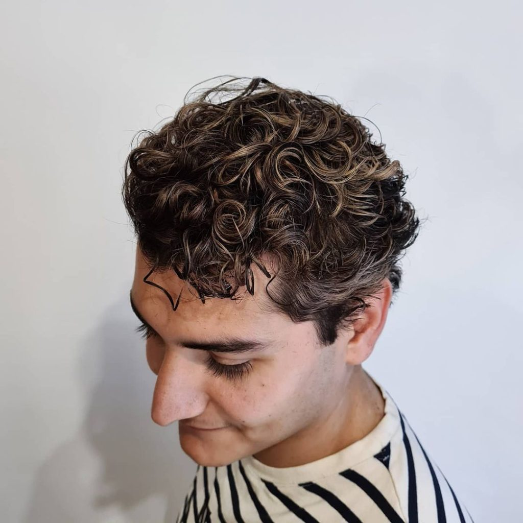Curly Hair Highlights For Men