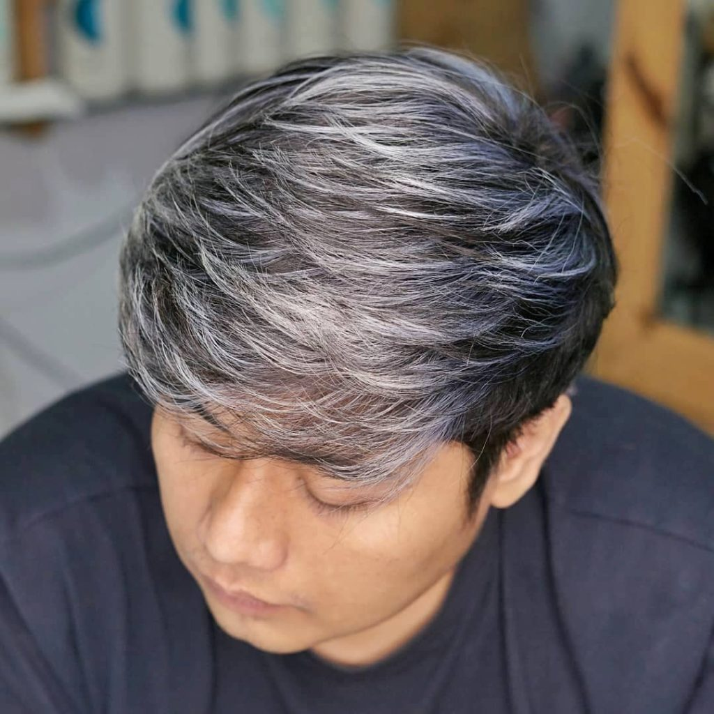 Silver Highlights For Black Hair