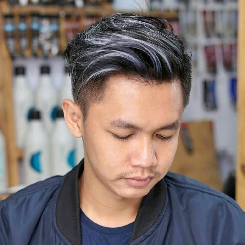 White Highlights For Black Hair
